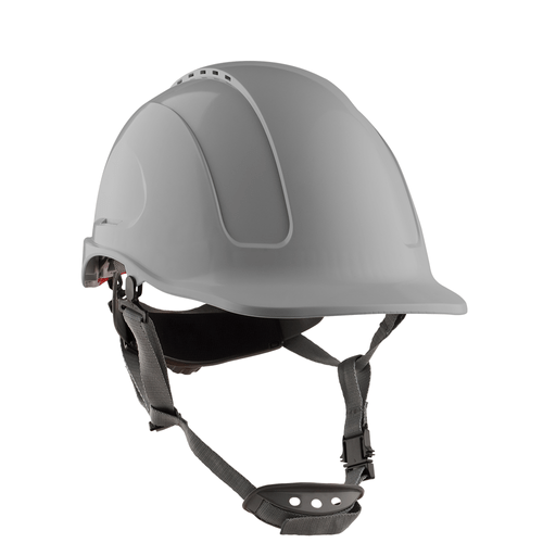 casco-steelpro-montaña-ventilado-gris